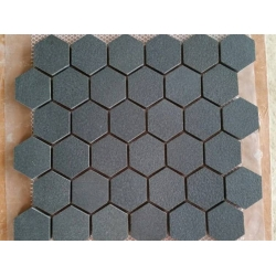 Black basalt mosaic hexagon mosaic tile natural stone mosaic