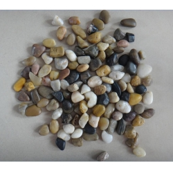 mixed colours polished pebbles