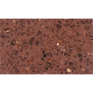 artificial shining brown quartz stone