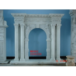 China fashion style white Marble Fireplace