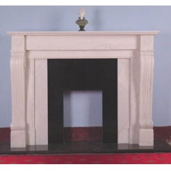 stone insert decorative marble fireplace