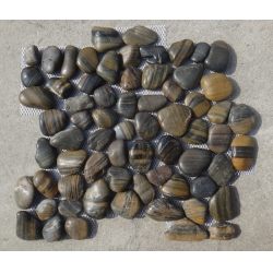 stripe polished pebbles tile