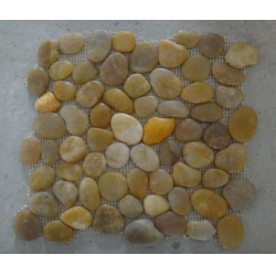 yellow pebble mesh tiles