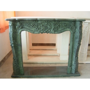 Green Marble Fireplace Mantel