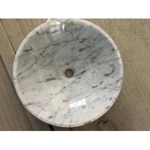 Carrara white marble sink and basin